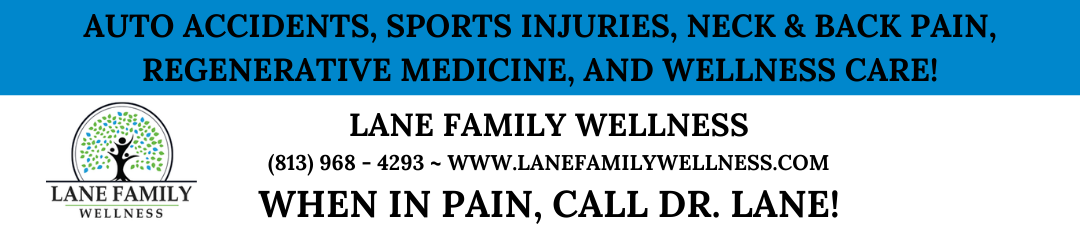 Lane Family Wellness When in Pain, Call Dr. Lane
